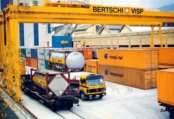 At the end of August 1999, Bertschi commences operations at a newly-built container terminal at the Lonza AG site in Visp.